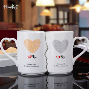 2Pcs/Set Couple Lovers Kiss Ceramic Coffee Mug Wedding Gift