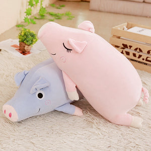 Cute Happy Sleeping Pig Super Soft Plush Stuffed Pillow Doll