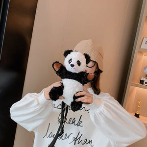 Mini Panda Doll Plush Purse Shoulder Bag