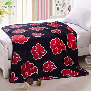 Anime Naruto Akatsuki Soft Warm Coral Fleece Throw Blanket