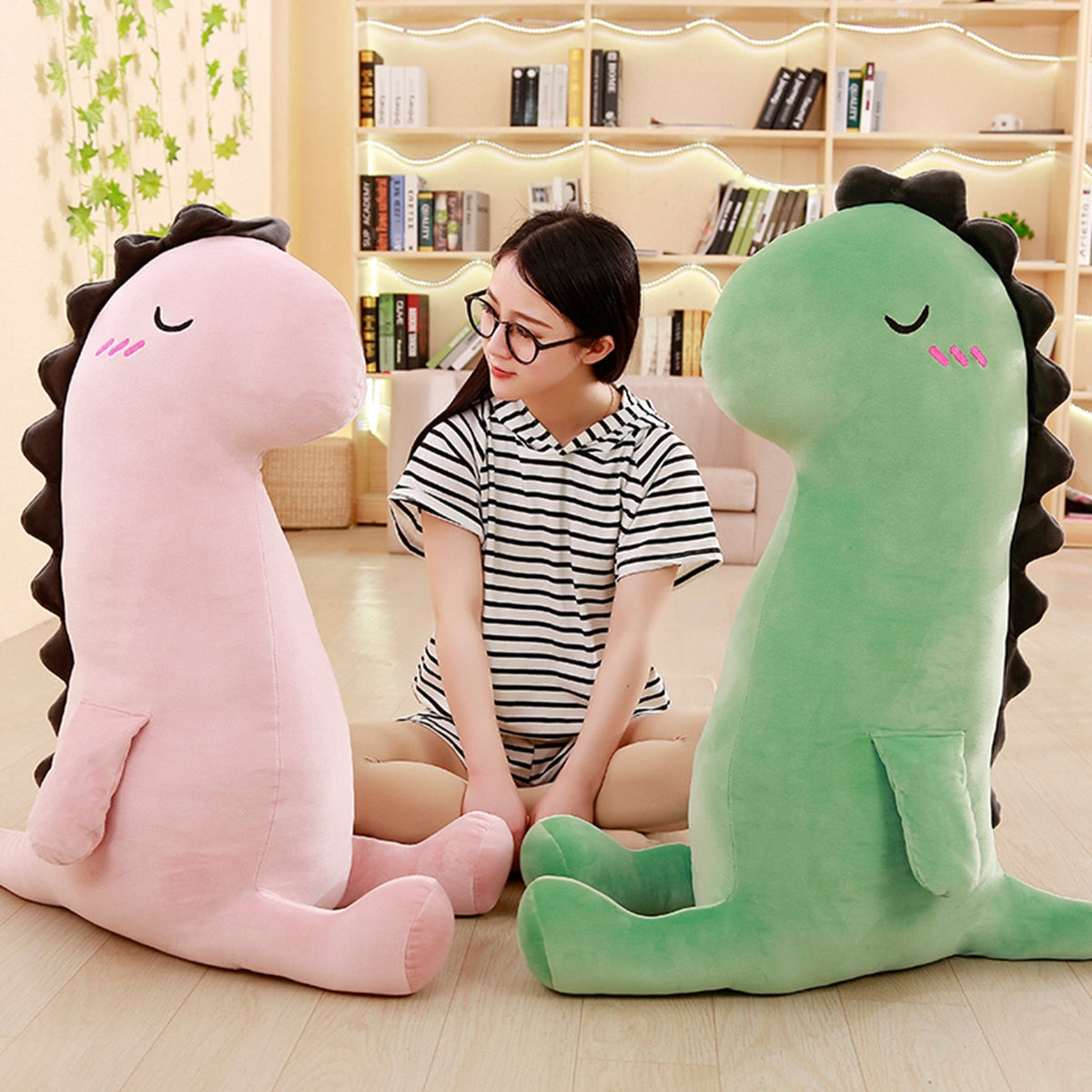 Cute Dinosaur Dino Stuffed Doll Soft Pillow Plush Toys Gift