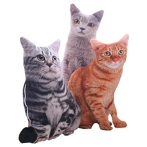 Lifelike Simulation Cat 50cm Cushion Sofa Pillow Case Covers no Filling