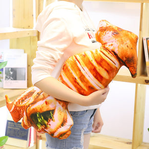 Simulation Roasted BBQ Food Grilled Stuffed Throw Pillow Dolls