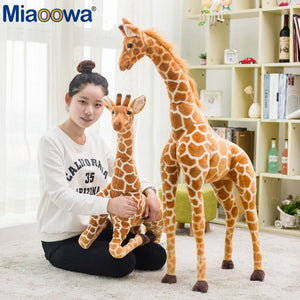 Giant Simulation Giraffe Animal Plush Toys Stuffed Dolls Kids Toys