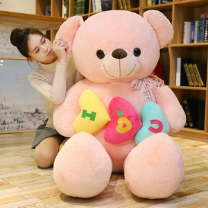Cute Teddy Bear I Love You Heart Soft Plush Stuffed Doll Birthday Gift