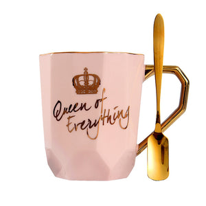 Queen of verything Natural Marble Porcelain Coffee Mug