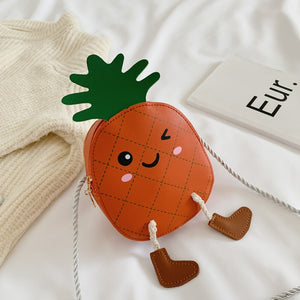 Lovely Pineapple Leather Purse Bag With Rope