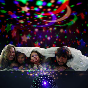 Color Changing Ocean Star Projector Night Light Luminaria Lamp For Baby Kids Gift