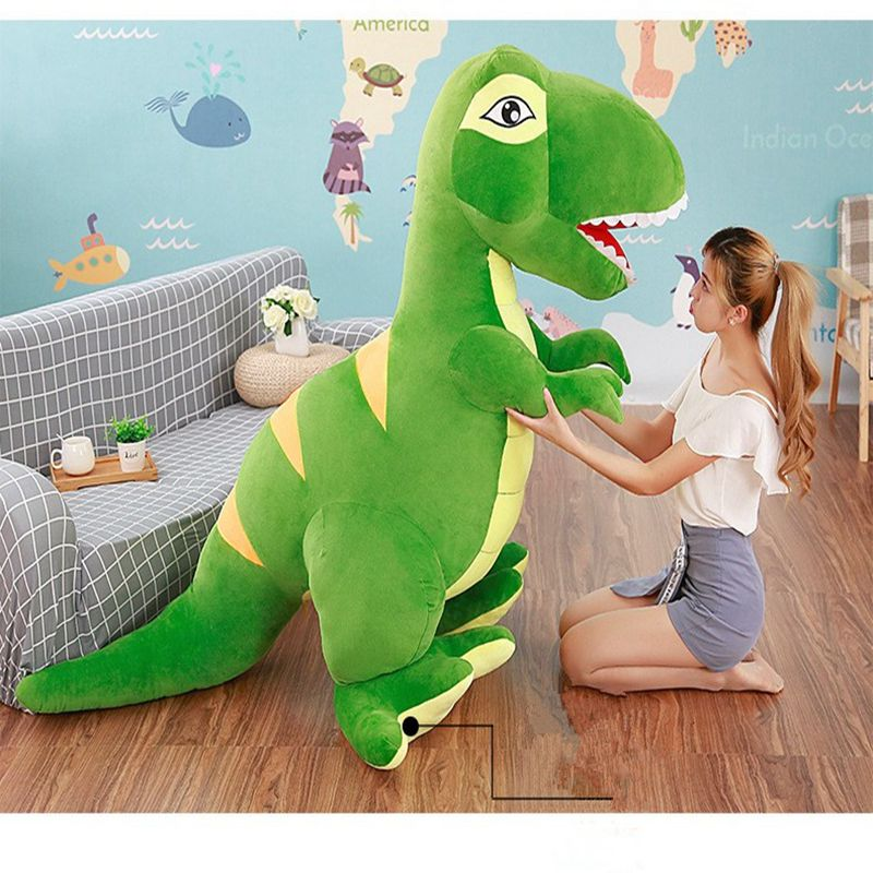 Cute T-Rex Dinosaur Fluffy Soft  Plush Doll Pillow Gifts For Children
