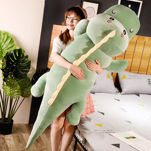 Lovely Long Dinosaur Large Size Plush Stuffed Doll Pillow