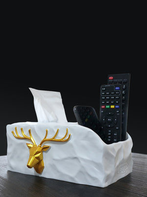 European Luxury Gold Deer Towel Napkin Tissue Holder Decor