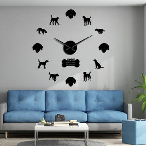 American Foxhound Large Frameless DIY Wall Clock Dog Lover Gift