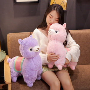 Cute Saddle Alpaca Soft Plush Stuffed Plush Doll