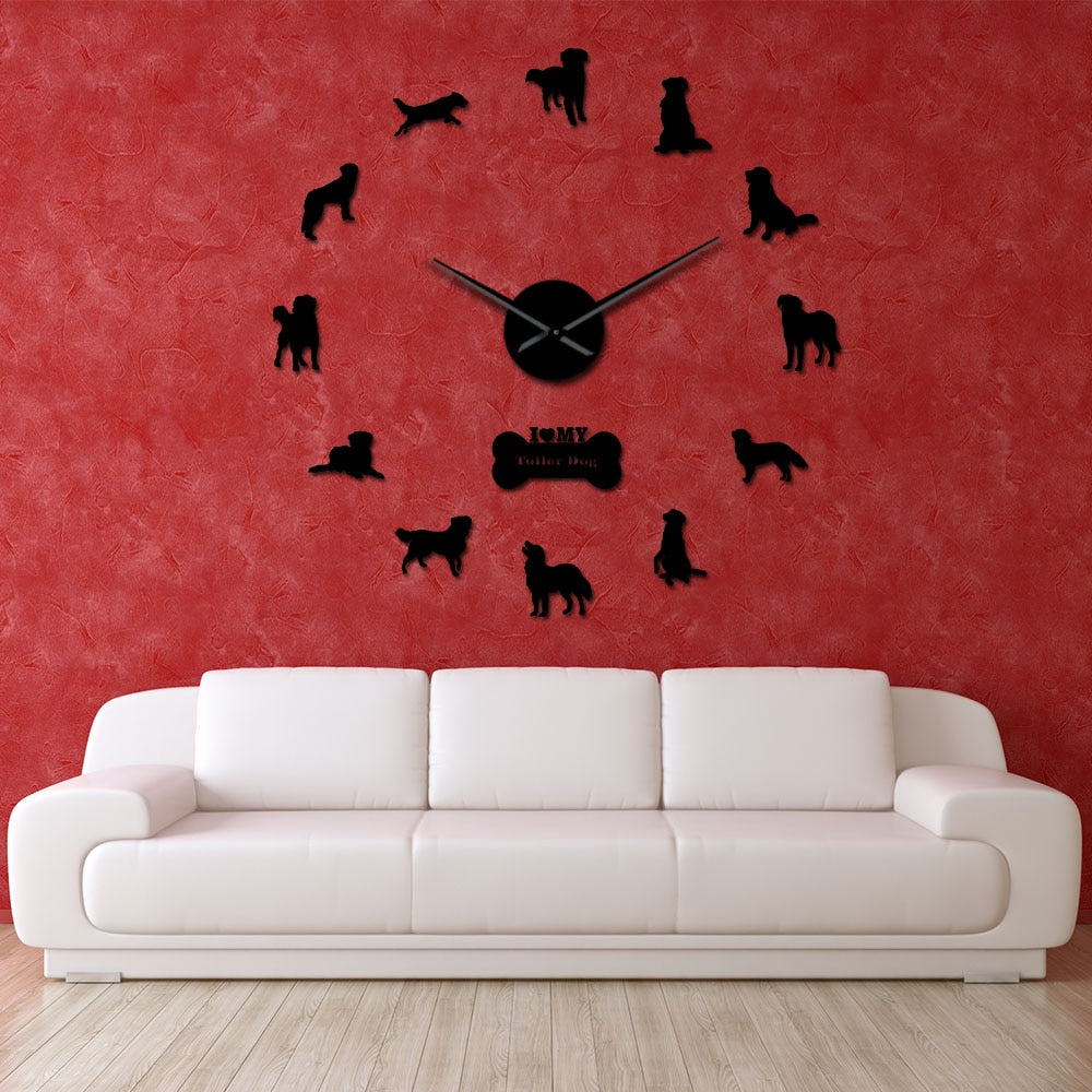 Nova Scotia Duck Tolling Retriever Dog Large Frameless DIY Wall Clock