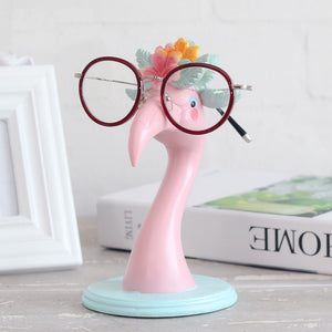 Pink Flamingos Resin Glasses Holder Office Decor