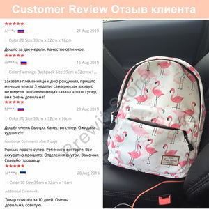 Beautiful Flamingo 14 Inch Laptop Backpack Bookbag