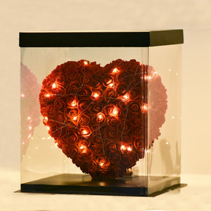 Beautiful Rose Flower Heart Shape LED Night Light Room Decor Gift