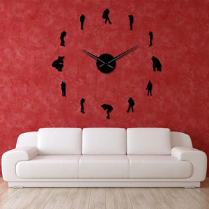 Photographers Cameramen Large Frameless DIY Wall Clock