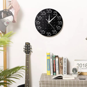Periodic Table of Elements Chemical Science Wall Clock