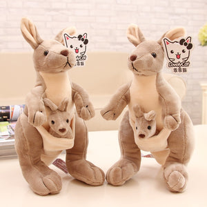 Cute Kangaroo with Baby Soft Plush Stuffed Toy Doll