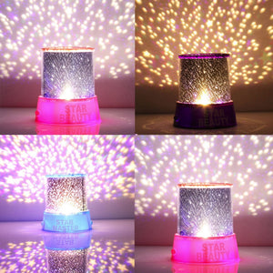 Romantic Colorful Star Sky Universal LED Night Light Projector Lamp