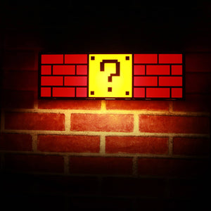 Wooden Question Mark Block Hanging Ceiling Night Light Lamp