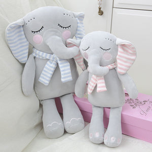 Cute Sleeping Elephant with Scarves Soft Plush Pillow Dolls
