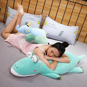 Sleeping Long Dinosaur Crocodile Elephant Pillow Bolster Plushie Doll