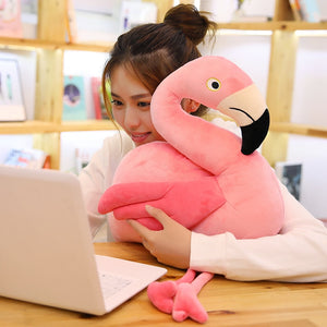 Funny Pink Flamingo Long Legs Bird Soft Plush Stuffed Toy Doll