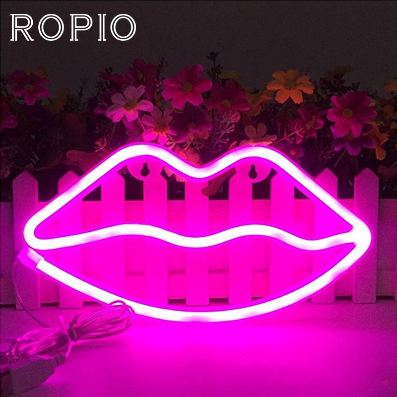 Cute LED Neon Sign Night Lights Soft Light Wall Decor Lamp