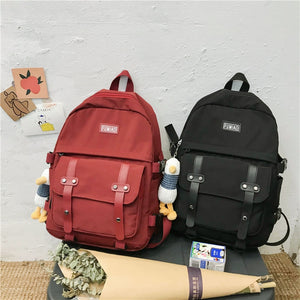 Cute Plushie Duck Waterproof Nylon Multipockets Backpack School Bag