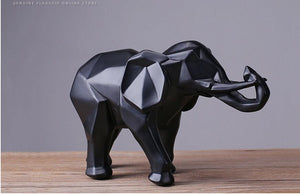 Abstract Black Elephant Resin Sculpture Statue Home Decoration