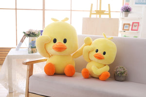 Cute Big Head Yellow Duck Plush Stuffed Pillow Doll Gift
