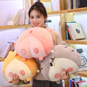 Cute Cat Pig Corgi Dog Butt Plush Cushion Pillow Doll