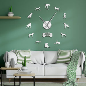 Hungarian Pointer Vizsla Dog Large Frameless DIY Wall Clock