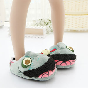 Funny Cartoon Zombie Warm Soft Home Slippers Shoes