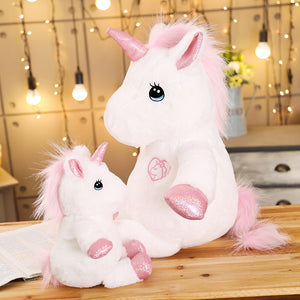 Lovely Giant Baby Unicorn Horse Plush Stuffed Dolls for Children