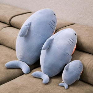 Cute Cuddly Huggable Cat Shark Plush Stuffed Toys Pillow