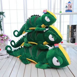 Cartoon Green Giant Lizard Chamelon Soft Plush Stuffed Doll Toy Gifts