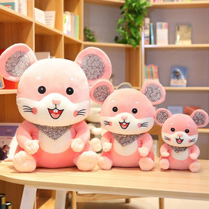 Smile Scarf Mice Mouse Plush Soft Stuffed Doll Gift