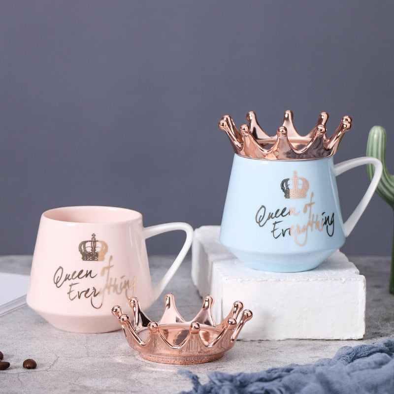 Queen of Everything Crown Milk Coffee Mug Cup