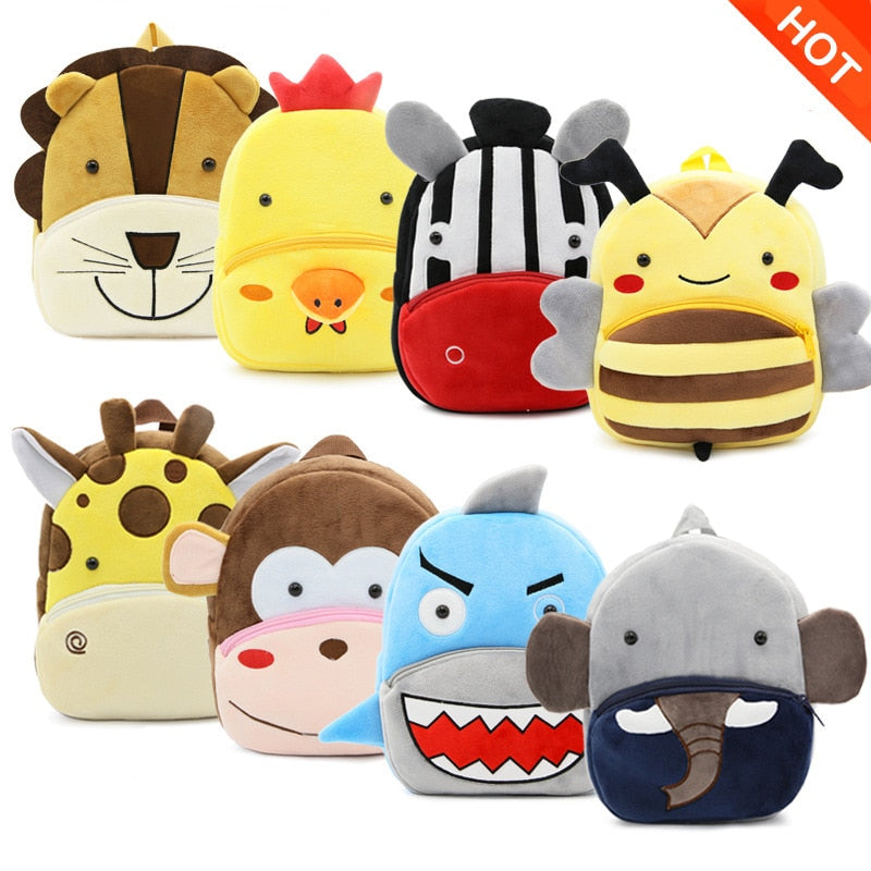 Cartoon Animal Children Plush Backpacks
