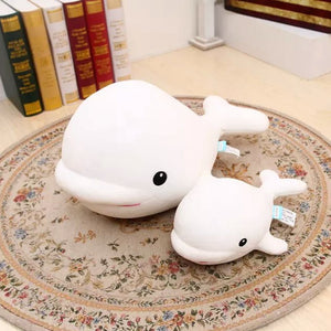Cute White Whale 28 cm Plush Stuffed Doll
