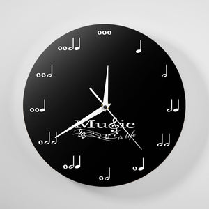 Music Is Life Musician Notes Wall Wall Clock