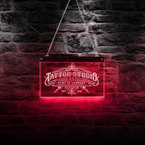 Tattoo Studio LED Neon Wall Sign With Lighting Changes