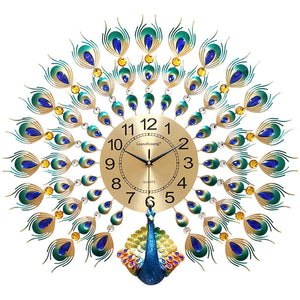 European Beautiful Peacock DIY Wall Clock