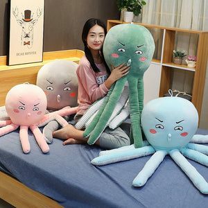 Funny Cartoon  Octopus Large Size Plush Stuffed Pillow Doll Gifts