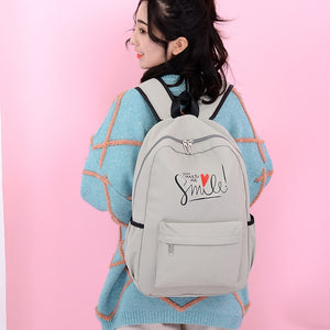 Lovely Heart You Make Me Smile Colleage School Bag Backpack