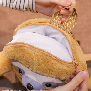 Cute Sloth Plush Small Backpacks Doll Bag Gifts