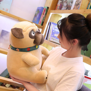 Lovely Simulation Pug Dog 25cm Plush Stuffed Doll